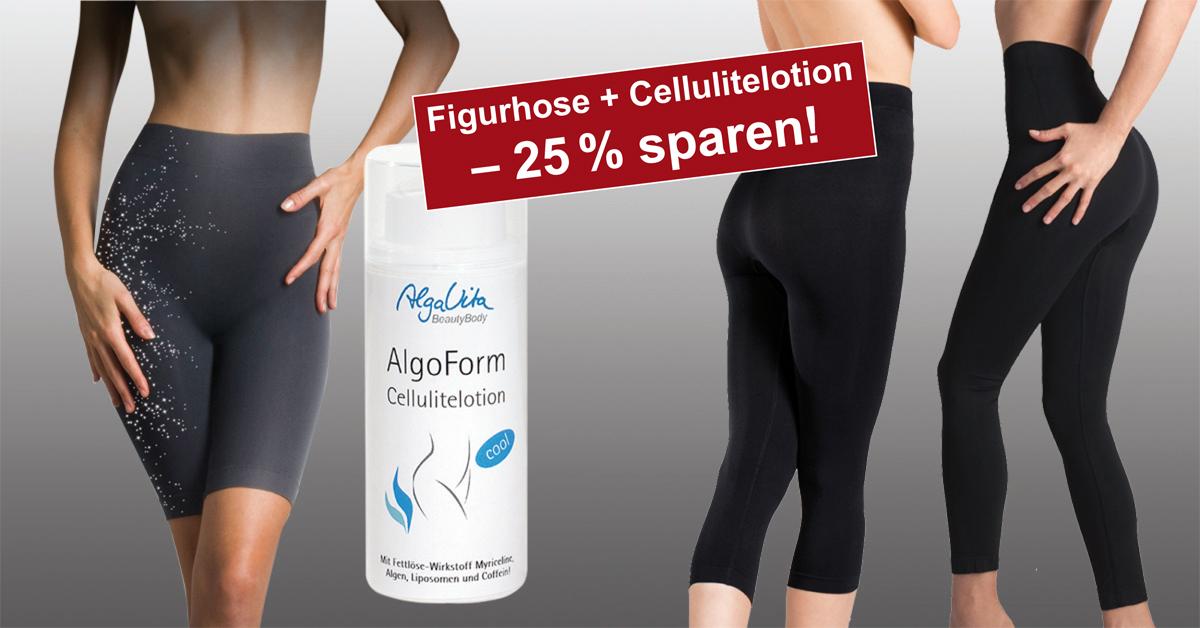 Luxus-Figurhosen mit Massage-Effekt plus Cellulitelotion!