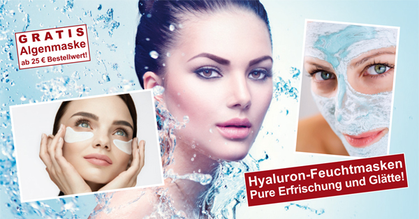Pure Erfrischung und Hautglättung mit Hyaluronsäure und Algenextrakten!