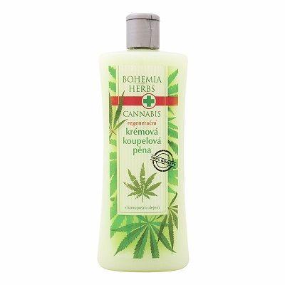 Cannabis-Schaumbad