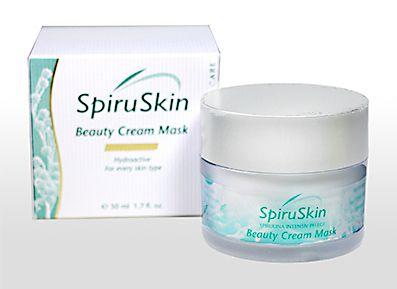 Beauty Cream Mask mit Mikroalgen, Spiruskin