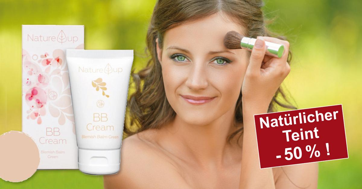 Natürliches Bio-Make-up für einen Pfirsich-Teint!