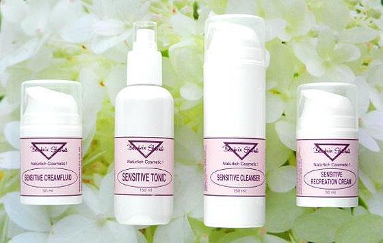 Parfümfreie, sensitive Hautpflege für die sensible, zarte aber auch reifere Haut.