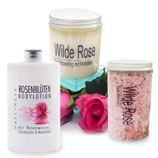 Verführerisches Rosen Bade-Pflegeset
