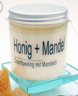 Honig-Mandel-Duschpeeling