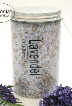 Lavendel-Meersalzbad